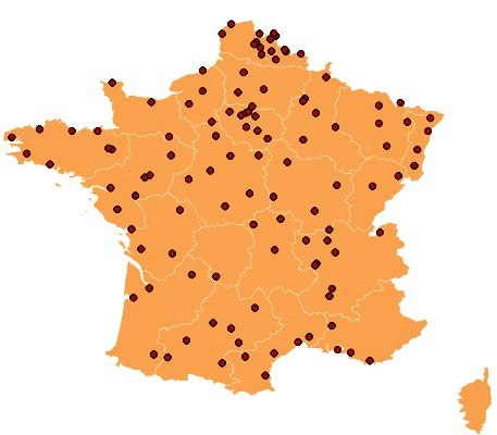Carte Des Brico Depot En France