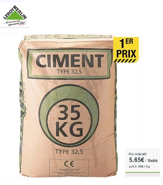 qualité ciment leroy merlin