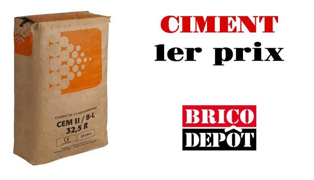 qualité ciment 1er prix brico dépot