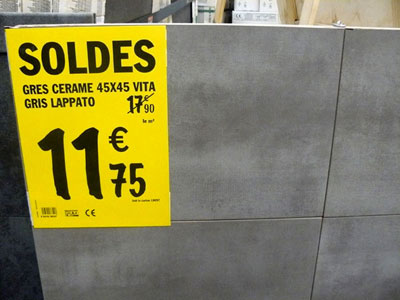 Soldes brico d p t for Carrelage brico depot
