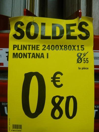 Soldes brico d p t for Plinthes carrelage prix