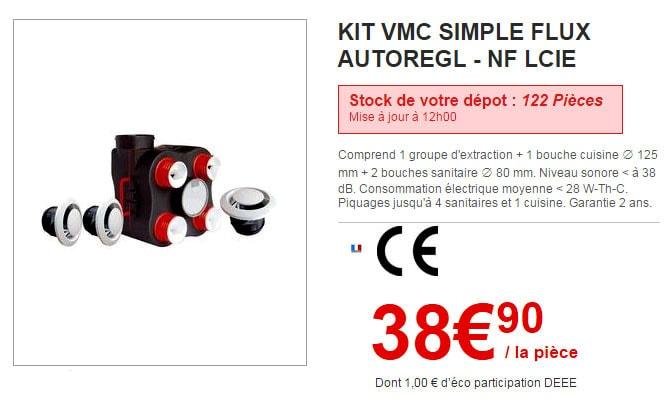 Vmc Simple Flux Brico Depot