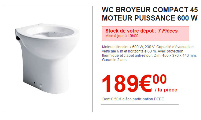 broyeur wc brico depot m canisme chasse d 39 eau wc. Black Bedroom Furniture Sets. Home Design Ideas