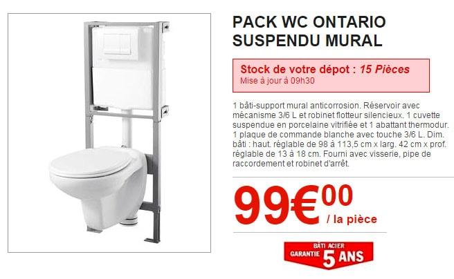 WC suspendu Brico Dépôt