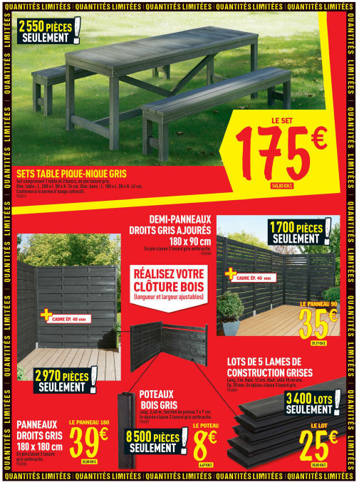 Le dernier catalogue brico d p t 72 pages qui d potent for Brico jardin challans catalogue