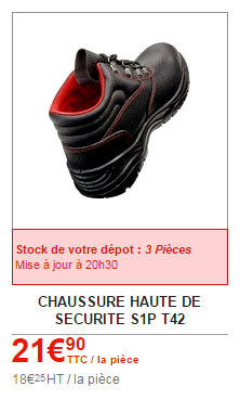 chaussures de sécurité brico depot