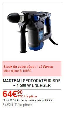 perforateur 1er prix Brico Dépôt