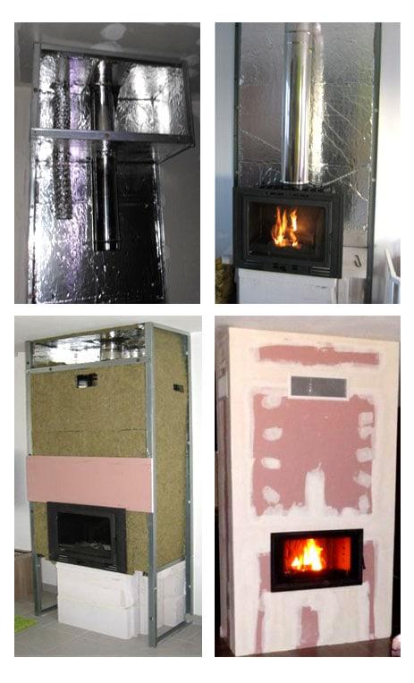 Réalisation d'un habillage de cheminée