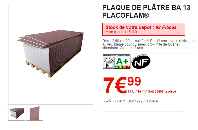 interesting placoflam brico depot with ponceuse a platre brico depot. Black Bedroom Furniture Sets. Home Design Ideas