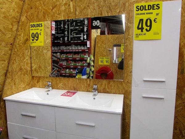 soldes salle de bain brico depot