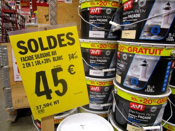 soldes peinture brico depot