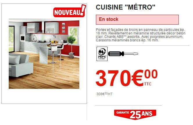 cuisine Brico Dépôt Metro