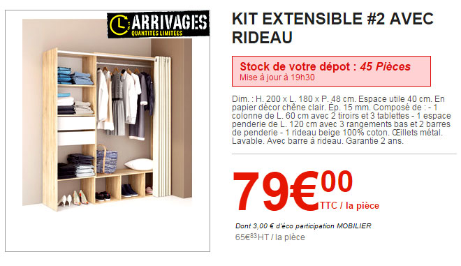 Le catalogue des arrivages brico d p t du 19 f vrier - Dressing brico depot 79 ...