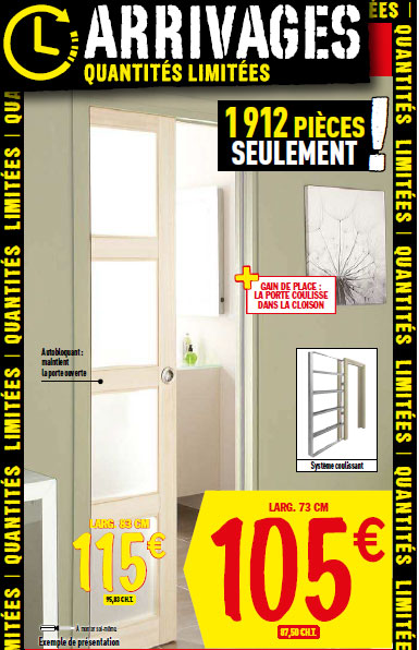Le catalogue des arrivages brico d p t du 19 f vrier for Porte de service acier brico depot
