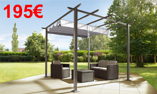 pergola alu brico depot. Black Bedroom Furniture Sets. Home Design Ideas