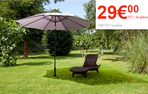 Parasol de jardin brico table de lit a roulettes - Table de jardin brico ...