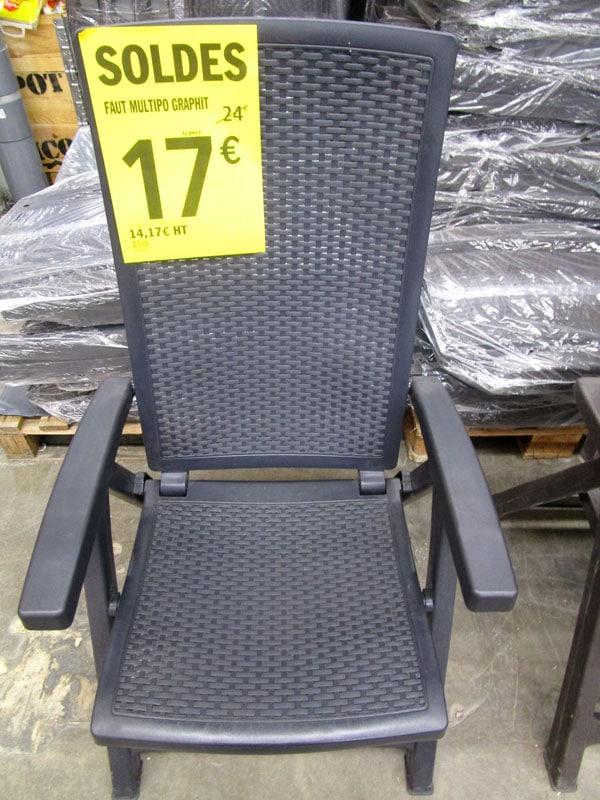 soldes brico dépot fauteuil de jardin
