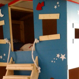 Le lit cabane de mon fils
