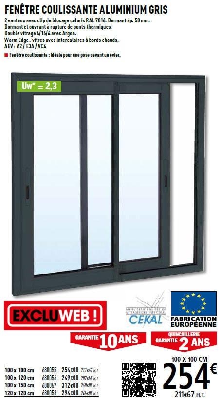 fenêtre en alu noir