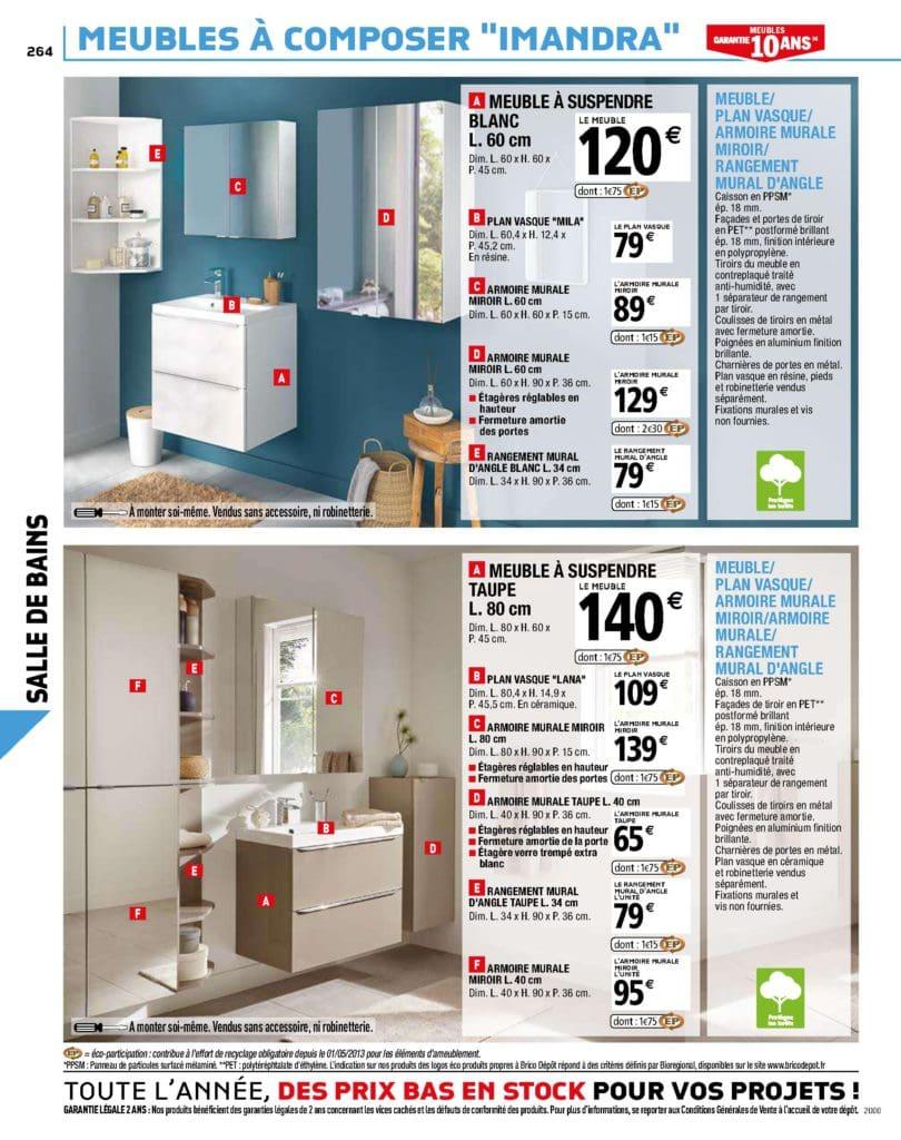 meuble de salle de bain à suspendre