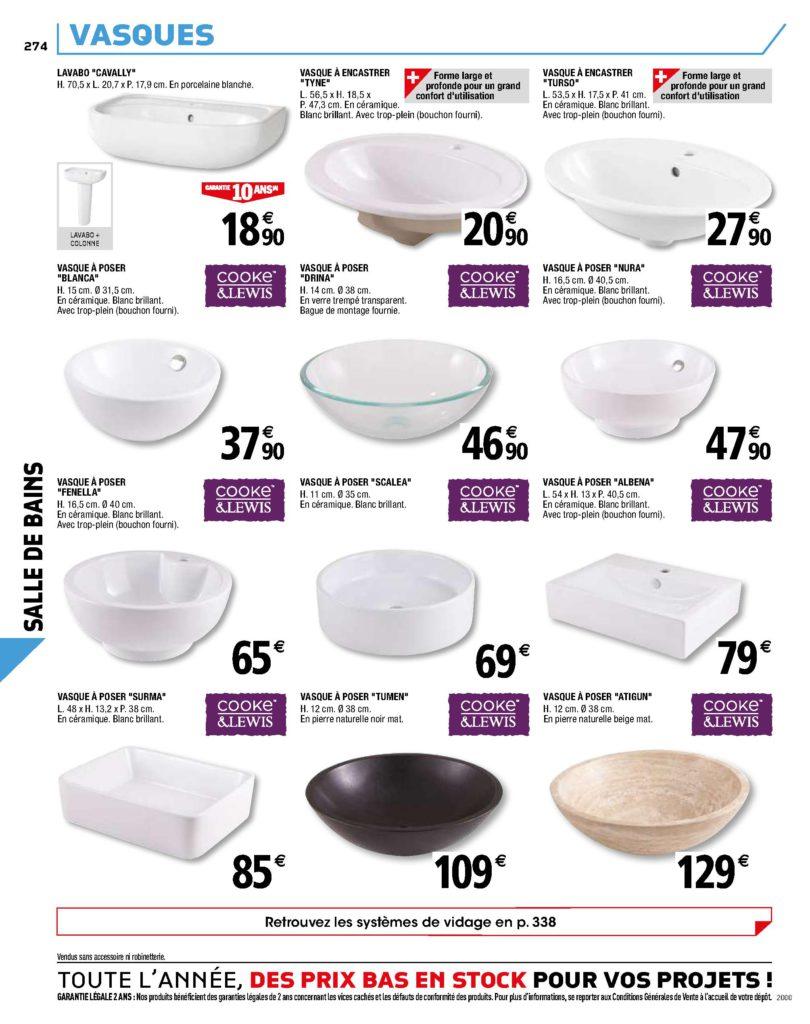 vasques de salle de bain