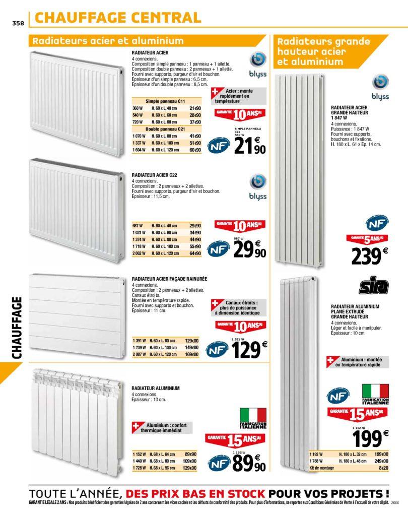 radiateurs acier