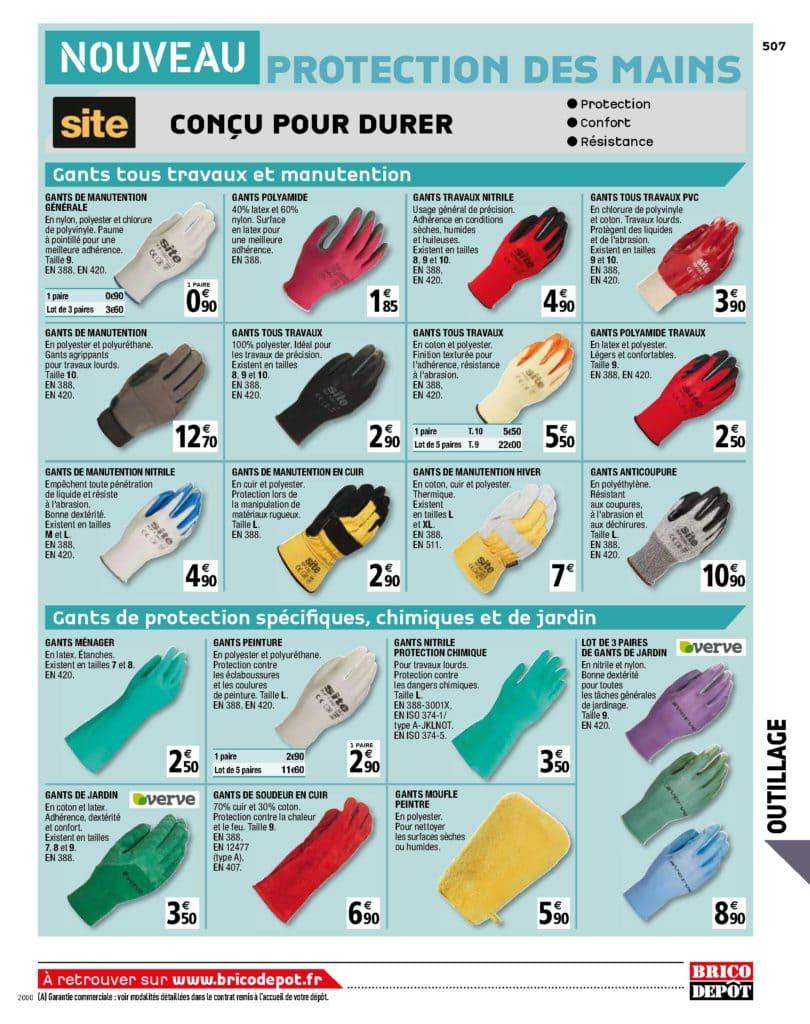 gants de travaux
