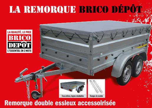 remorque double essieux brico depot