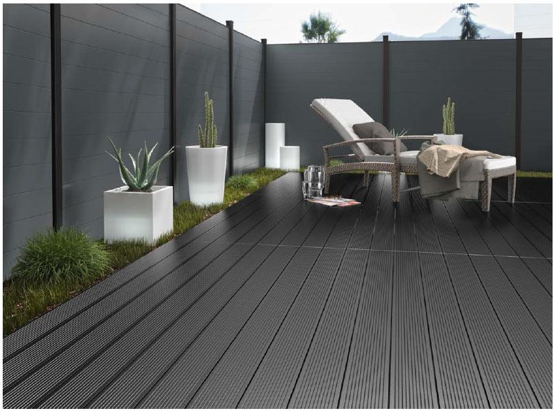 terrasse de jardin composite